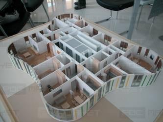 Макет интерьера типового этажа жилого дома
