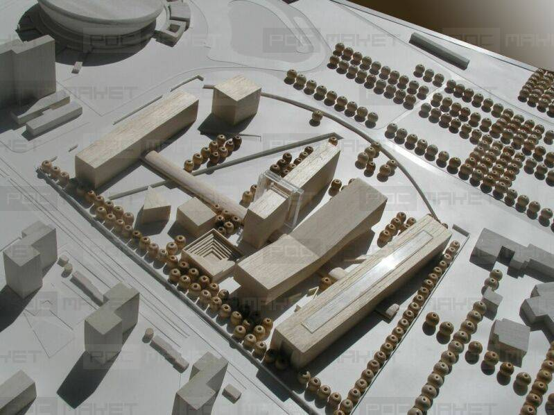 Макеты зданий из картона